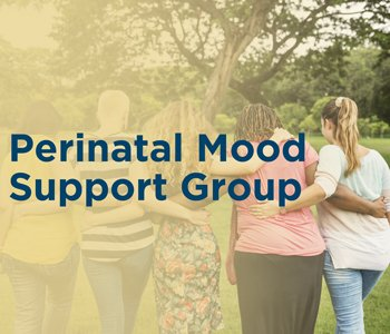 Women supporting each other (perinatal mood support group)