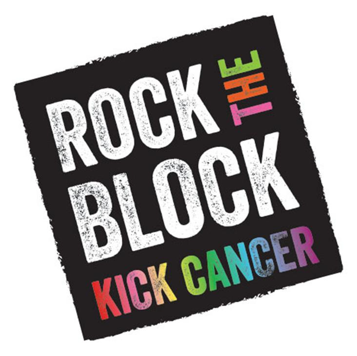 Rock the Block - Kick Cancer logo