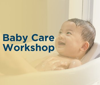 An infant in a bathtub (baby care)