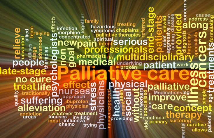 many colorful words describing palliative care