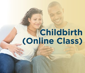 Parents-to-be participating in an online childbirth class