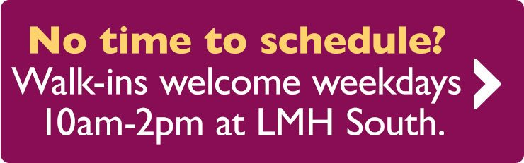 No time to schedule a mammogram? Walk-ins welcome at LMH South