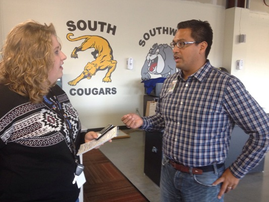 Dr. Luis Salazar speaks with Nicole Wentling, LJWorld reporter on concussions and the impact they have on the brain.