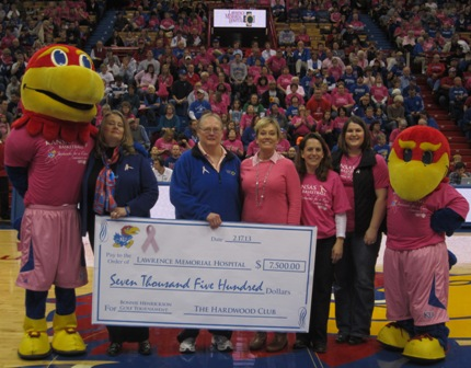 2013 Hardwood Club check presentation