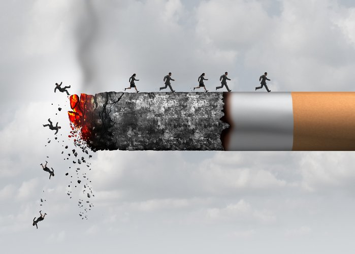 people images running on burning cigarette - Quit Smokeout