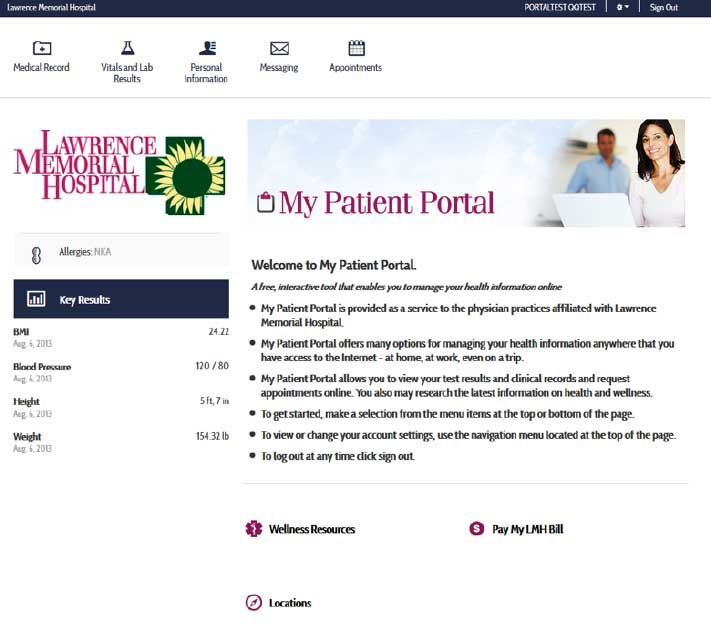 My Patient Portal Homepage