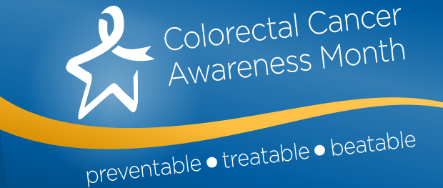 Colorectal cancer awareness month banner